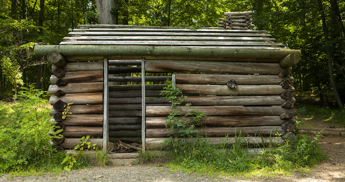 Soldiers' hut at Morristown National Historic Park