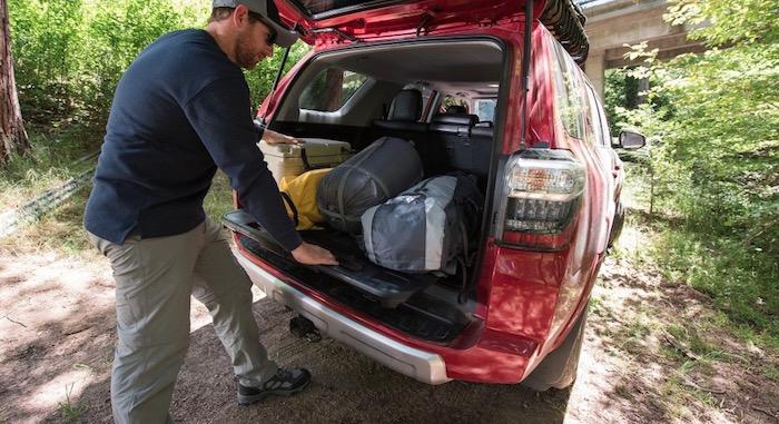 SUV cargo area